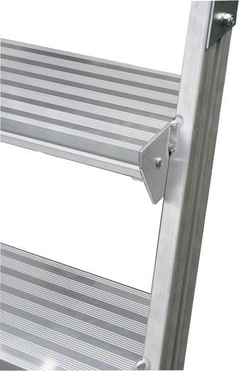 Krause 820235 Aluminium Podestleiter fahrbar Arbeitshöhe (max.): 2.70 m Silber 32.9 kg