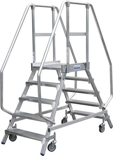 Krause 820242 Aluminium Podestleiter fahrbar Arbeitshöhe (max.): 2.95 m Silber 37.5 kg
