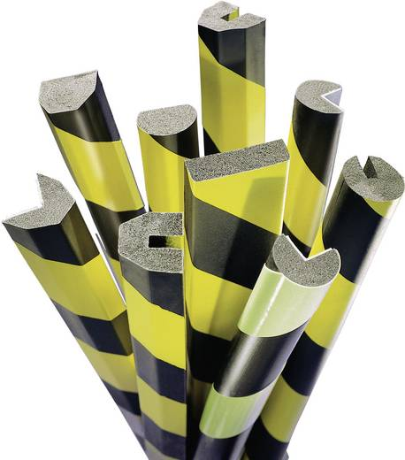 Moravia 422.23.243 MORION-Prallschutz Trapezform - Kantenschutz gelb/schwarz (L x B) 1000 mm x 40 mm