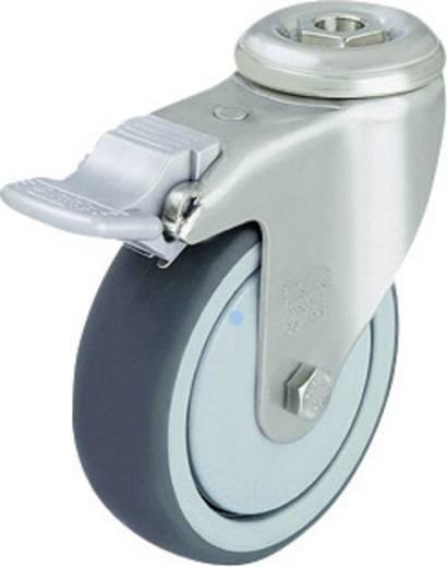 Blickle 574640 Edelstahl-Apparate-Lenkrolle Feststeller mit Rückenloch Ø 125 mm Kugellager