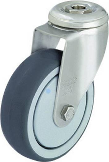 Blickle 574178 Edelstahl-Apparate-Lenkrolle mit Rückenloch Ø 80 mm Gleitlager