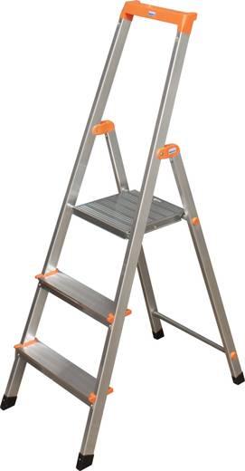 Aluminium Stufen-Stehleiter Arbeitshöhe (max.): 2.65 m Krause 3 steg 126214 Silber 2.9 kg