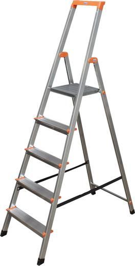 Aluminium Stufen-Stehleiter Arbeitshöhe (max.): 3.05 m Krause 126238 Silber 4.5 kg