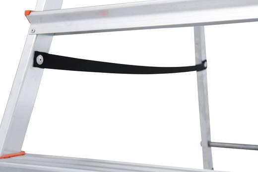Aluminium Stufen-Stehleiter Arbeitshöhe (max.): 3.05 m Krause 5 steg 126238 Silber 4.5 kg