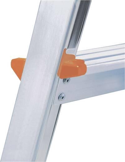 Aluminium Stufen-Stehleiter Arbeitshöhe (max.): 3.25 m Krause 6 steg 126245 Silber 5.2 kg