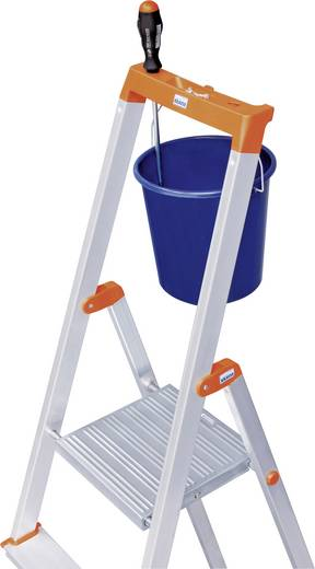 Aluminium Stufen-Stehleiter Arbeitshöhe (max.): 3.50 m Krause 126252 Silber 6 kg