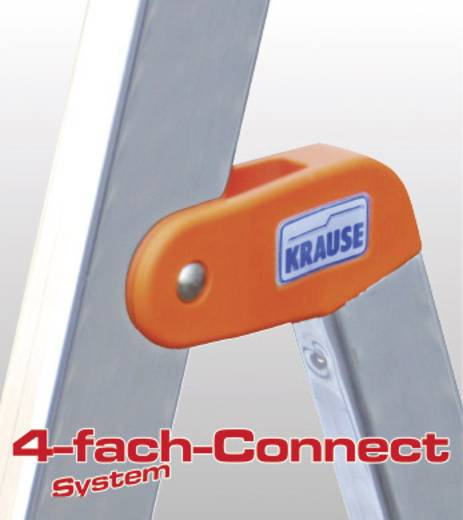 Aluminium Stufen-Stehleiter Arbeitshöhe (max.): 3.50 m Krause 7 steg 126252 Silber 6 kg