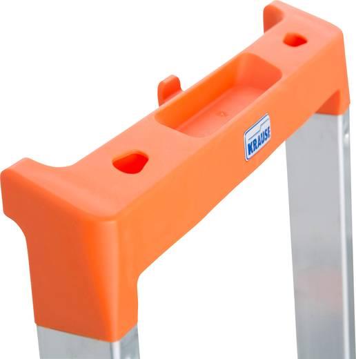 aluminium stufen stehleiter arbeitsh he max m krause 126252 silber 6 kg kaufen. Black Bedroom Furniture Sets. Home Design Ideas