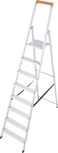 Aluminium Stufen-Stehleiter Arbeitshöhe (max.): 3.70 m Krause 126269 Silber 7.2 kg