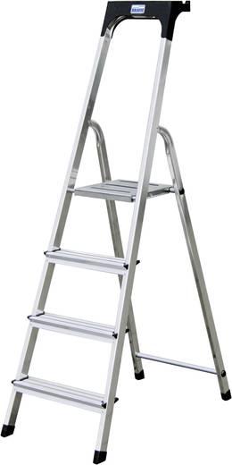 Aluminium Stufen-Stehleiter Arbeitshöhe (max.): 2.85 m Krause 126320 Silber 3.8 kg