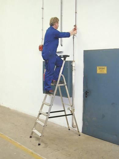 Aluminium Stufen-Stehleiter Arbeitshöhe (max.): 3.05 m Krause 126337 Silber 4.7 kg