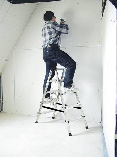 Aluminium Stufen-Doppelleiter Arbeitshöhe (max.): 2.65 m Krause 2x5 steg 120342 Silber 4 kg