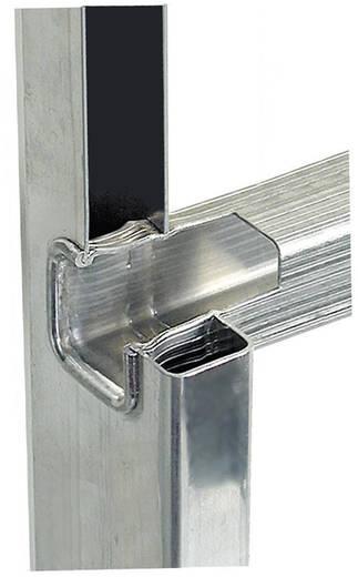 Aluminium Anlegeleiter Arbeitshöhe (max.): 6.05 m Krause 121813 Silber 8.8 kg
