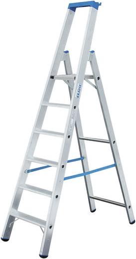 Aluminium Stufen-Stehleiter Arbeitshöhe (max.): 3.65 m Krause 124548 Silber 9.5 kg