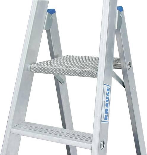 Aluminium Stufen-Stehleiter Arbeitshöhe (max.): 3.90 m Krause 124555 Silber 10.5 kg