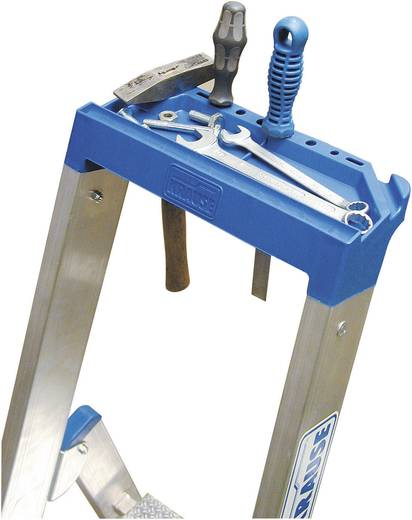 Aluminium Stufen-Stehleiter Arbeitshöhe (max.): 3.20 m Krause 124524 Silber 7.3 kg