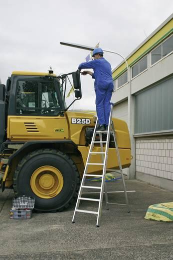 Aluminium Stufen-Stehleiter Arbeitshöhe (max.): 2.70 m Krause 124500 Silber 5.4 kg