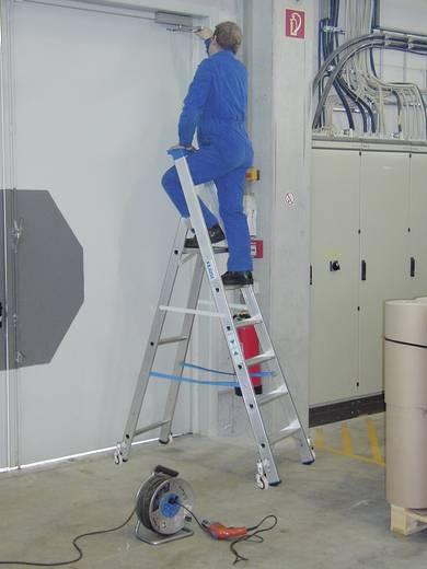 Aluminium Stufen-Stehleiter fahrbar Arbeitshöhe (max.): 3.20 m Krause 124623 Silber 9.7 kg