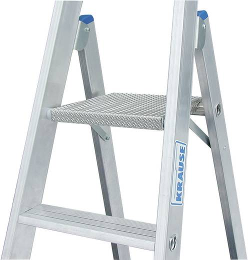 Aluminium Stufen-Stehleiter fahrbar Arbeitshöhe (max.): 3.90 m Krause 124654 Silber 12.5 kg