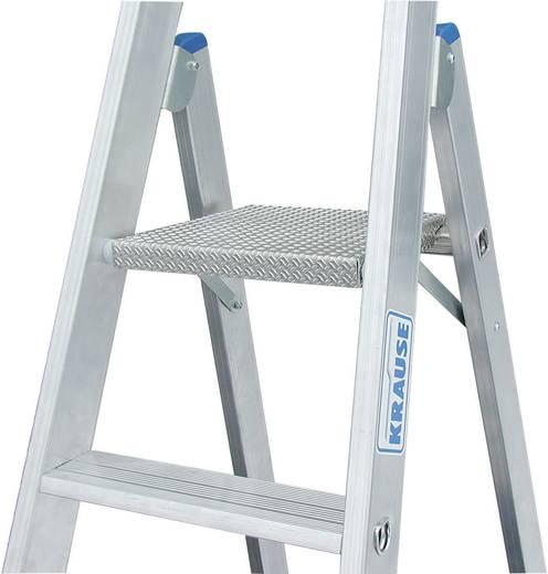 Aluminium Stufen-Stehleiter fahrbar Arbeitshöhe (max.): 4.35 m Krause 124661 Silber 15.3 kg