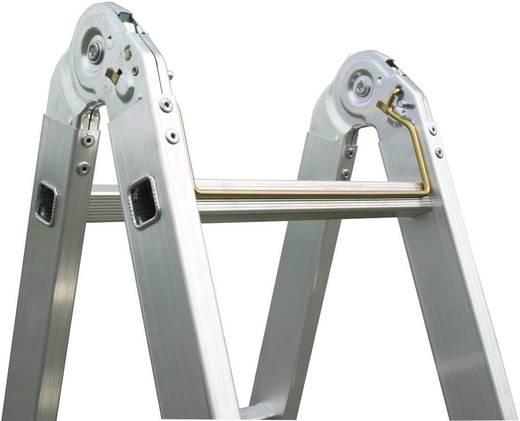 Aluminium Stufen-Doppelleiter Arbeitshöhe (max.): 4.40 m Krause 123534 Silber 8.5 kg