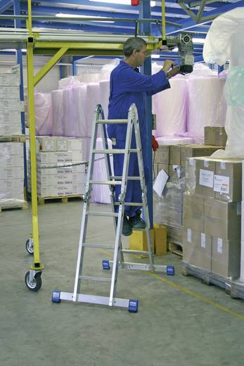 Aluminium Mehrzweckleiter Arbeitshöhe (max.): 5.50 m Krause 123503 Silber 14.5 kg
