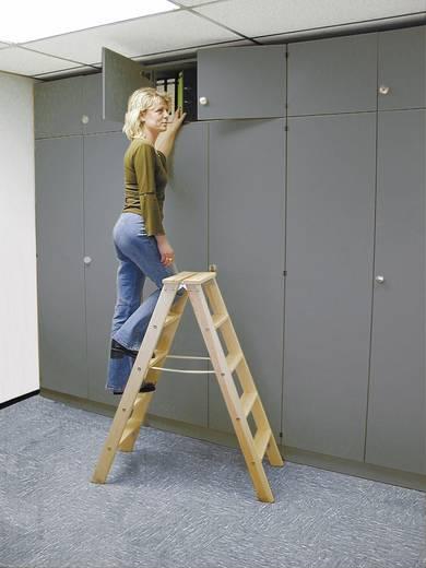 Krause 818270 Holz Stufen-Doppelleiter Arbeitshöhe (max.): 3.75 m Kiefer 17 kg