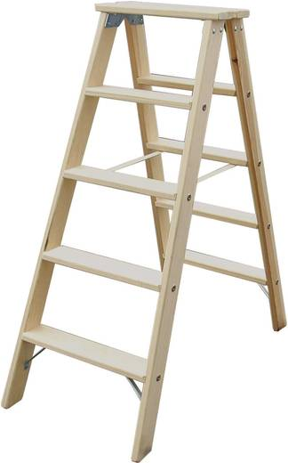 Holz Stufen-Doppelleiter Arbeitshöhe (max.): 2.85 m Krause 818232 Kiefer 10.5 kg