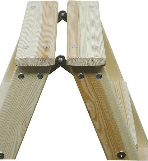 Holz Stufen-Doppelleiter Arbeitshöhe (max.): 2.45 m Krause 818218 Kiefer 7.5 kg