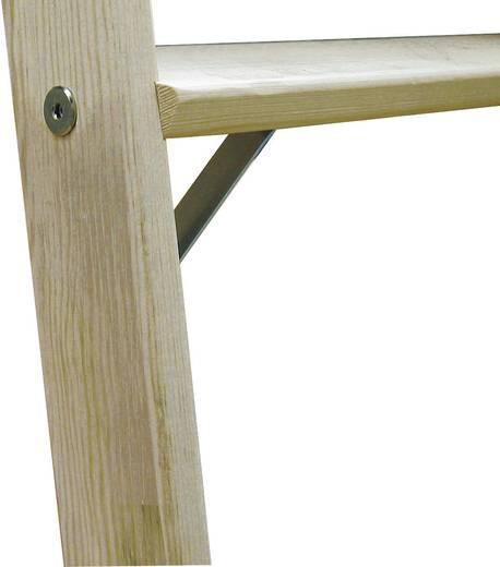 Holz Stufen-Doppelleiter Arbeitshöhe (max.): 2.2 m Krause 818201 Kiefer 5 kg