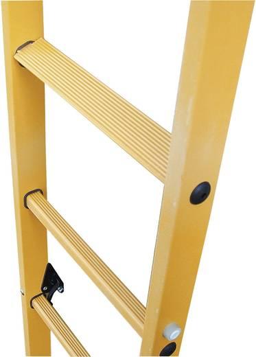 Kunststoff, Edelstahl Schiebeleiter Arbeitshöhe (max.): 6.50 m Krause 817648 Orange 16 kg