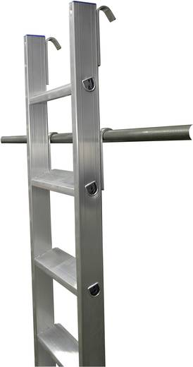 Aluminium Regalleiter Arbeitshöhe (max.): 3.60 m Krause 125194 Silber 6 kg
