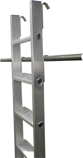 Aluminium Regalleiter Arbeitshöhe (max.): 4.10 m Krause 125200 Silber 7.2 kg