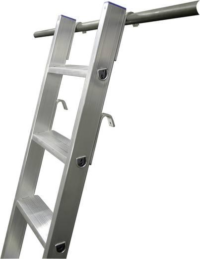 Aluminium Regalleiter Arbeitshöhe (max.): 2.70 m Krause 125163 Silber 3.6 kg