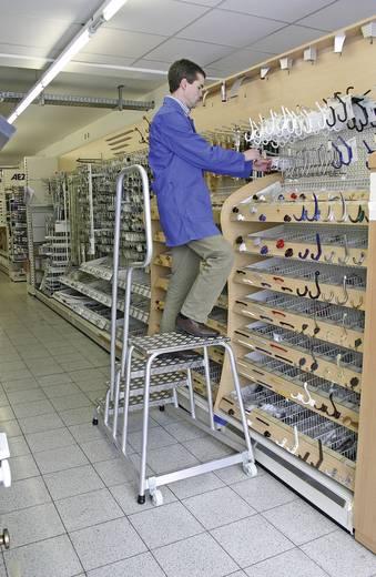 Aluminium Montagetritt fahrbar Arbeitshöhe (max.): 2.80 m Krause 805096 Silber 13.5 kg