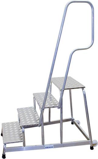 Aluminium Montagetritt fahrbar Arbeitshöhe (max.): 3.00 m Krause 805102 Silber 16.5 kg
