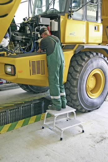 Krause 805324 Montagetritt mit Gitterroststufen Aluminium max. Arbeitshöhe 2.40 m