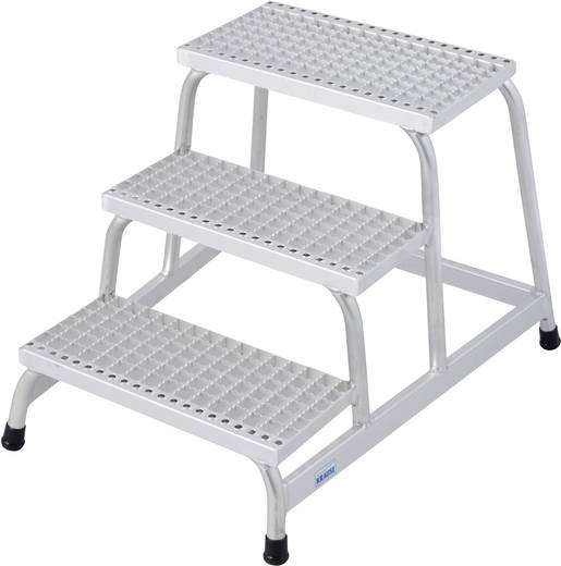 Aluminium Montagetritt Arbeitshöhe (max.): 2.60 m Krause 805331 Silber 8.5 kg