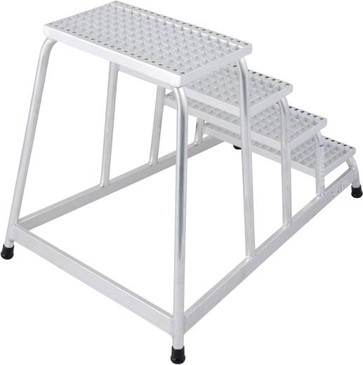 Aluminium Montagetritt Arbeitshöhe (max.): 2.80 m Krause 805348 Silber 11 kg