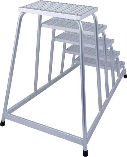 Aluminium Montagetritt Arbeitshöhe (max.): 3.00 m Krause 805355 Silber 14 kg