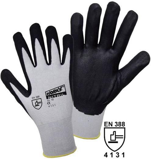worky 1158 FOAM Nylon NITRIL Feinstrickhandschuh 100% Nylon mit Nitril-Beschichtung Größe (Handschuhe): 7, S