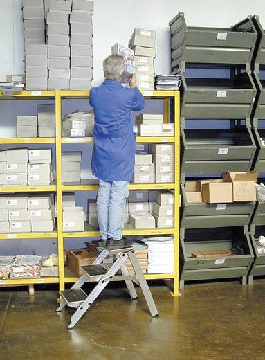 Aluminium Treppe klappbar Arbeitshöhe (max.): 2.40 m Krause 810229 Silber 3.9 kg