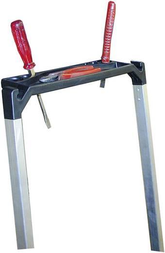Aluminium Treppe klappbar Arbeitshöhe (max.): 2.70 m Krause 810250 Silber 8.4 kg