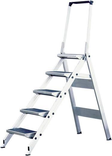 Aluminium Treppe klappbar Arbeitshöhe (max.): 3.20 m Krause 810274 Silber 12.8 kg