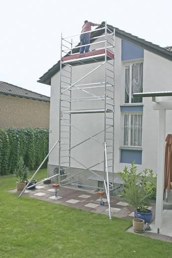 Aluminium Gerüst fahrbar Arbeitshöhe (max.): 9.30 m Krause ProTec 910172 Silber 172 kg