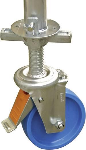 Aluminium Gerüst fahrbar Arbeitshöhe (max.): 12.30 m Krause ProTec 910202 Silber 216 kg