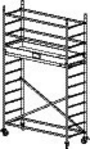 Aluminium Gerüst fahrbar Arbeitshöhe (max.): 4.30 m Krause ProTec 910097 Silber 65 kg