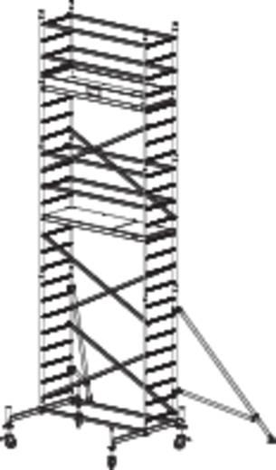 Krause 910158 Fahrgerüst Aluminium max. Arbeitshöhe 7.30 m