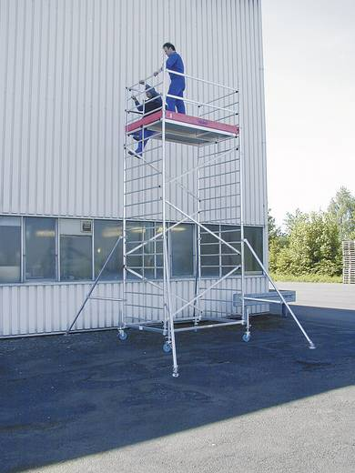 Aluminium Gerüst fahrbar Arbeitshöhe (max.): 2.90 m Krause ProTec XXL 911117 Silber 61 kg