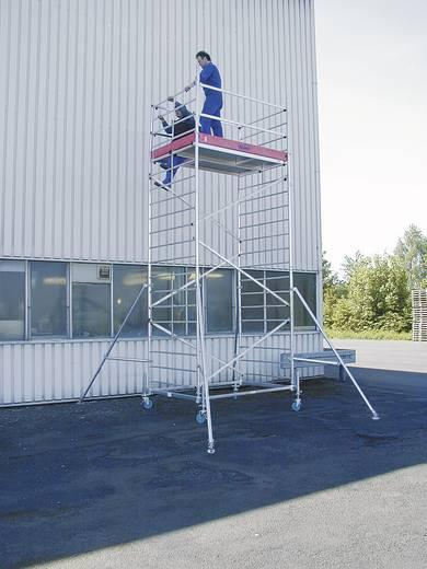 Aluminium Gerüst fahrbar Arbeitshöhe (max.): 4.30 m Krause ProTec XXL 911094 Silber 87 kg